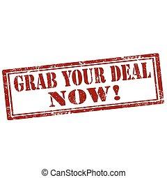 now!-stamp, agarramento, seu, negócio