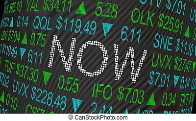 Now Stock Market Urgent Buy Sell Order 3d Illustration