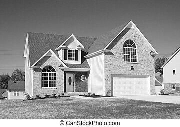 nowe domy, dla sprzedaży, b&w