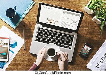 nowość, finansowy, online