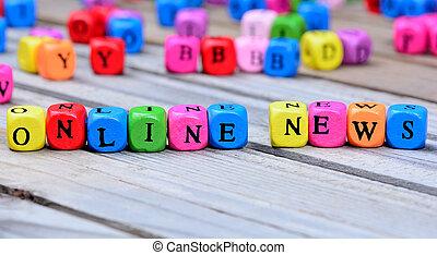 nowość, online, słówko, stół