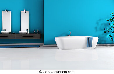 nowoczesny, łazienka, wewnętrzny
