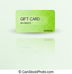 nowoczesny, dar karta, szablon