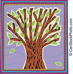 nowoczesny, drzewo