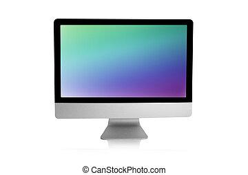 nowoczesny, hydromonitor komputera