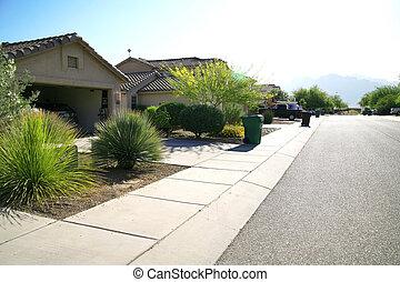 nowoczesny, klasyczny, amerykanka, dom, -, nowy, stan, arizona, powierzchnia