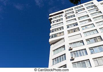 nowoczesny, kondominium, budowa.