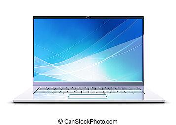 nowoczesny, laptop