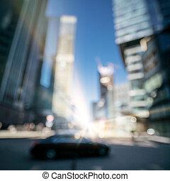 nowoczesny, miasto handlowe, pojęcie