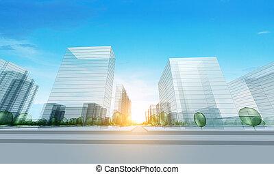 nowoczesny, miasto