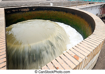 nowoczesny, miejski, wastewater, leczenie roślina
