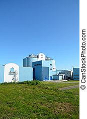 nowoczesny, miejski, wastewater, traktowanie, factory.