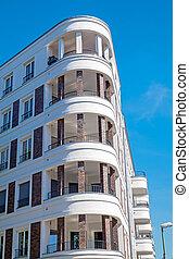 nowoczesny, mieszkaniowy, kompleks, w, berlin