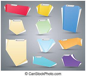 nowoczesny, origami, deska