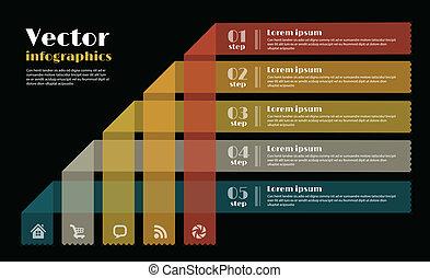 nowoczesny, projektować, szablon, infographics