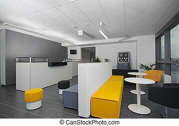 nowoczesny, przyjęcie, biuro