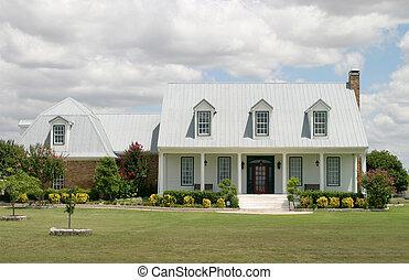 nowoczesny, rancho, dom