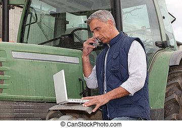 nowoczesny, rolnik