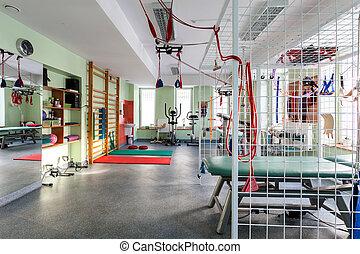 nowoczesny, sala gimnastyczna