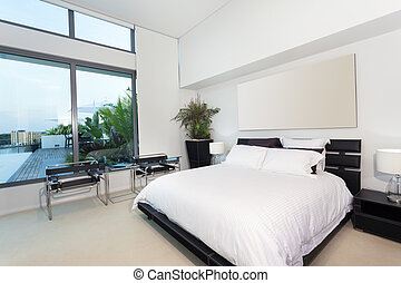 nowoczesny, sypialnia