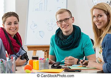 nowoczesny, teamwork, biuro