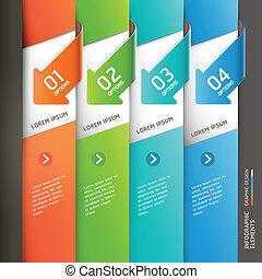 nowoczesny, template., strzała, infographics