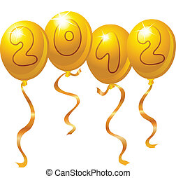 nowy, 2012, balony, rok