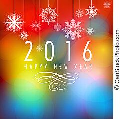 nowy, 2016, szczęśliwy, rok
