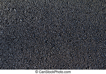 nowy, asfalt, położony, na drodze
