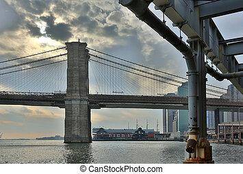 nowy, brooklyn, york, most