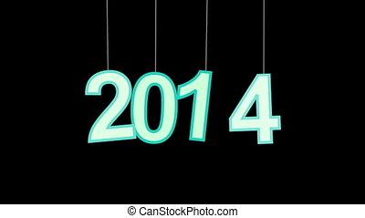 nowy, celebrowanie, 2014, luma, rok