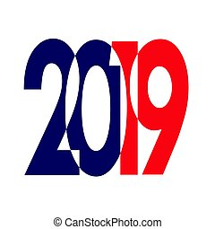 nowy, czysty, święto, year-2019, powitania