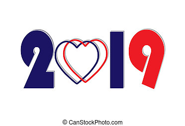 nowy, gratulacje, czysty, 2019, rok