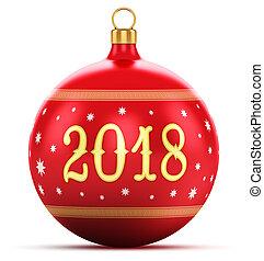 nowy, pojęcie, święto, 2018, rok
