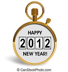 nowy, pojęcie, rok, 2012