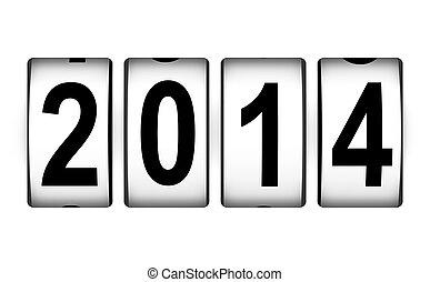 nowy, pojęcie, rok, 2014