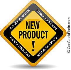 nowy produkt, wektor, ikona