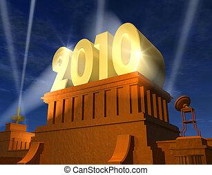 nowy rok, 2010, celebrowanie