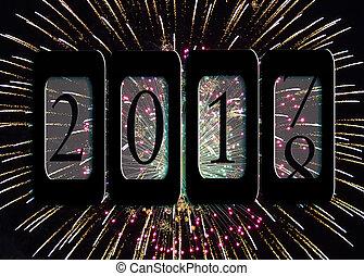 nowy rok, 2018, odometr