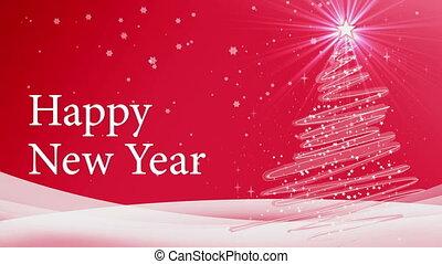 nowy rok, ożywienie, drzewo