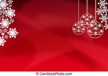 nowy rok, tło, screensaver, dla, nowy rok, i, boże narodzenie, powitania, czerwone tło, z, miejsce, dla, napis