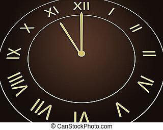 nowy rok, zegar