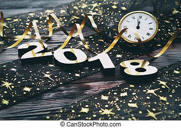 nowy, szczęśliwy, 2018, rok