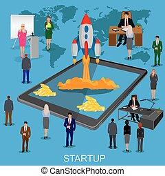 nowy, wodowanie, startup, handlowy