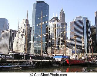 nowy york, profile na tle nieba, 6