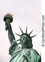 nowy york, statua, swoboda, usa