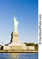 nowy york, statua, usa, swoboda
