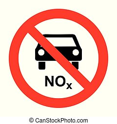 NOx car and prohibition sign