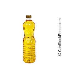 noyau, backgroun, huile, cuisine, isolé, paume, bouteille,...