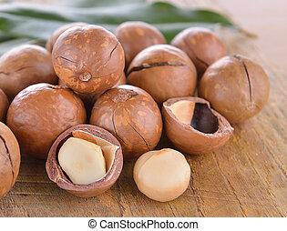 noz, macadamia